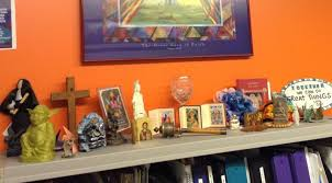 nerdy office decor. Nerdy Office Decor Buddha Yoda And The Other Deities Overview Of My Interfaith Display Geek D