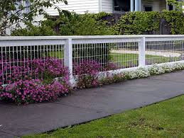 Decoration Front Yard Fence With Wire Fencing Designs For Your Front