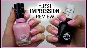 Sally Hansen Gel Polish Light Sally Hansen Miracle Gel First Impression Review