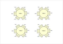 round table seating chart free word circle template half