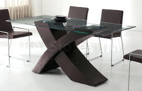 glass dining table wood base astonishing decoration round glass top dining table wood base