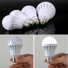 Power Outage Light Bulbs Ctkcom 7w Led Light Bulbs 2 Pack Emergency Lamps Household Lighting Bulbs Saving Energy Intelligent Lamps Rechargable Electricity White Color 6500k