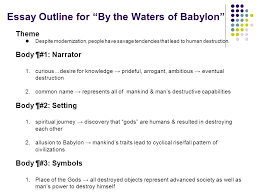 "preparing for the short story essay short story essay prompt how  11 essay outline for ""by the waters of babylon"""