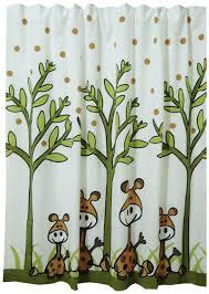 Giraffe Bathroom Decor Giraffe Shower Curtain Black
