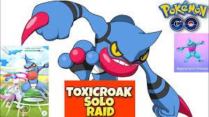 Mewtwo vs Toxicroak in 3 star raid | Toxicroak solo raid | 3 star raid solo  | Pokemon go raid battle - YouTube