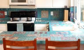 countertop tiles turquoise mosaic kitchen tiles