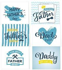 With father's day approaching we though we would share a few more ideas for father's day cards and crafts kids can make. Amazon Com Tuparka 36 Pack Father S Day Greeting Cards With Envelopes 6 Assorted Unique Designs For Father S Day Office Products