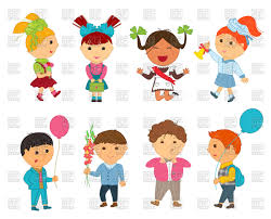 funny cartoon kids go to happy children vector image vector ilration of people to zoom