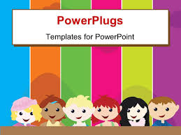 Powerpoint Frame Theme Elegant Ppt Theme Enhanced With A Cartoon Theme Of Six Kids