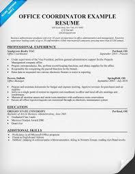 87 Office Coordinator Resume Jscribes Com