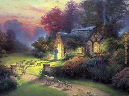 thomas kinkade the good shepherd s cottage