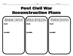 Reconstruction Plans Comparison Chart By History With