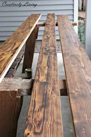 Rustic Furniture Stain Torched Diy Rustic Wood Counter Top For Under 50 By Creatively Living
