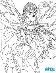 Bloom Transformation Bloomix Coloring Page Ellie S Stuff Dessin A Imprimer Winx Bloomix L