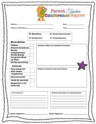 Parent Teacher Conference Form Template Parent Teacher Conference Forms Free Printables Living