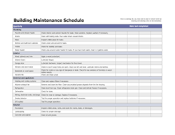 Building Maintenance Schedule Excel Template Maintenence In 2019