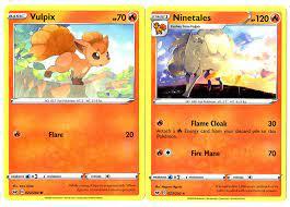 Amazon.com: Pokemon Sword & Shield Evolution Set - Ninetales & Vulpix -  23/202 - Rare Card Lot : Toys & Games
