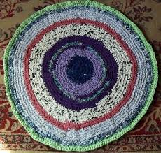 hand crocheted rag rug for your spinning wheel 28 inch round