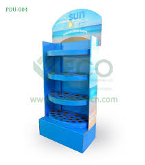 In Store Display Stands Suncream display store display stand corrugated POS display 44