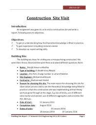 2013 Civ 22 Building Site Report 1st Semester Civil Engineering 2013