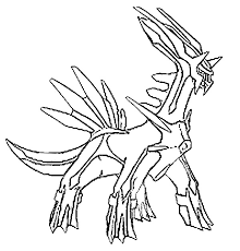 Small Picture Coloring Pages Pokemon Dialga Drawings Pokemon