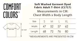 Comfort Colors Shirt Size Chart Soft Washed Garment Dyed Fabric Adult T Shirt C1717