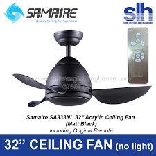 samaire sa333nl 32 ceiling fan no light matt black