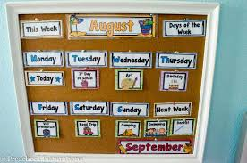 Interactive Charts For Preschool Making Calendar Time Meaningful Preschool Inspirations