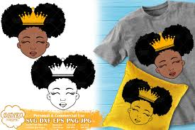 African american silhouette african american children african american kids. Black Girl With Crown Cute Afro Girl Svg Silhouette Svg 538472 Cut Files Design Bundles