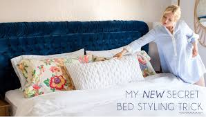 king pillows on queen bed. Simple Bed Bed_Styling_Trick_02 With King Pillows On Queen Bed S