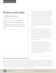 Romeo And Juliet Character Analysis Lesson Plan Owl Eyes
