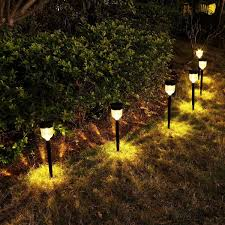 Amazon Prime Solar Garden Lights Yunlights Solar Lights Outdoor 6 Pack Solar Pathway Lights Garden Solar Lights For Lawn Yard Patio Driveway Walkway Warm White