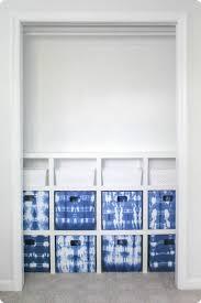 diy closet system with storage bins