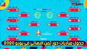 شاهد جدول مباريات دور ثمن النهائي من بطولة امم اوروبا يورو 2020 - YouTube