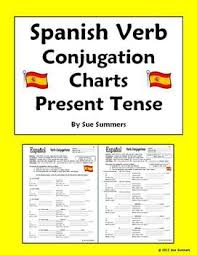 spanish verb conjugation charts present tense spanish learning verb conjugation spanish verb conjugation and spanish