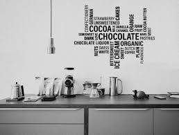 wall sticker collage words cafe wall decor wall decal