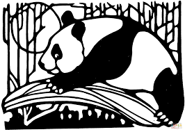 Panda In Bamboo Forest Coloring Page Free Printable Coloring Pages