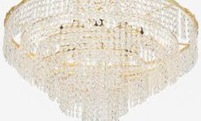mid century gold plated chandelier with austrian crystals austrian