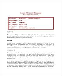 6 Re Hire Policy Templates Pdf Word Free Premium