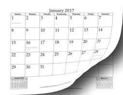 2017 calendars by month printable 2017 calendar