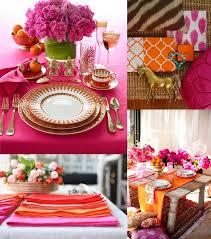 Pink and orange reception decor - Beautiful!