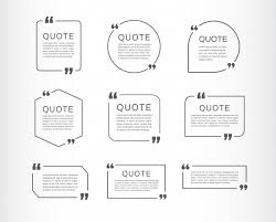 Template For A Speech Quote Template Set Quote Speech Box Vector Premium Download