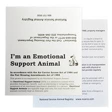 Emotional Support Dog Kit Esa Registration Nsar