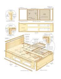 diy wood design wood bed platform plans captains bed queen plans