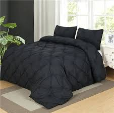 luxurious duvet cover set black pinch pleat 2 twin queen king size bedclothes bedding sets no