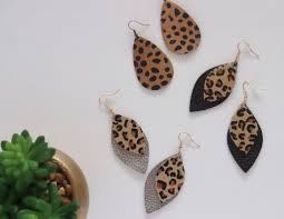 vegan leather leopard earrings prev