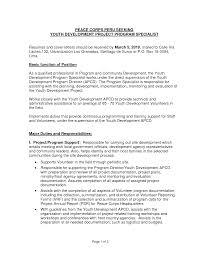 Program Director Job Description Template Programme Manager Pictures