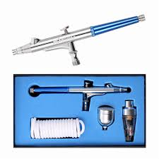 Kkmoon 0.3Mm Gravity Feed Dual-Action Airbrush Kit Set For Facial ...