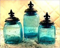 blue kitchen canister sets glass kitchen canisters sets teal canister set glass kitchen canister set colored