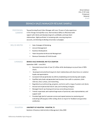 branch s manager resume samples template and job description template for a branch s manager